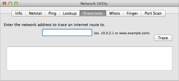 Trace Route on Mac